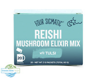 Reishi Mushroom Elixir with Tulsi - Four Sigmatic -20 packets - sleep, de-stress