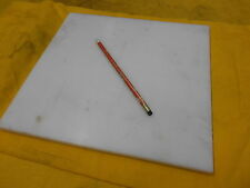 WHITE NYLON SHEET machineable plastic flat bar plate stock 1/2