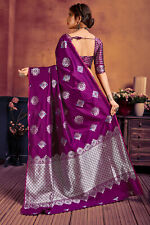 Indian Wear Lichi Silk Sari Designer Sari Bollywood Sari Special Wear A 33-5