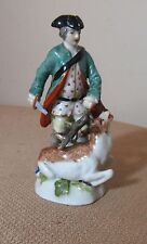 rare antique miniature Royal Vienna beehive mark deer hunter porcelain figurine
