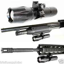 TRINITY 1000 Lumens LED Tactical Flashlight Weaver Mounted For Shotguns/Rifles.