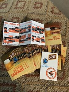 Lot Of 50 !!!   1979 BALTIMORE ORIOLES SCHLITZ BEER BASEBALL POCKET SCHEDULE