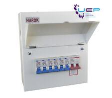 HAROK Metal Consumer Unit 100a Main Switch 6 Usable Way C/w 6 X MCBs Amendment 3