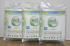 "FOUR ~ 10 packs Eat Cleaner Fresh Fruit and Vegetable Wash, Grab ""N Go"