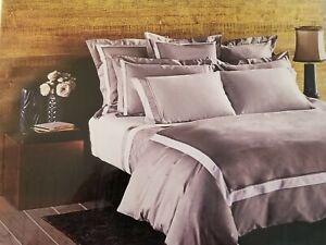 Frette At Home Arno Duvet Cover White & Gray 100% Cotton Queen Portugal