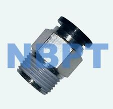PUSH IN TO CONNECT ONE TOUCH FITTING STRAIGHT 4 mm - R1/8,  NBPT 10 pcs