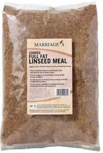 Marriages Cooked Full Fat Linseed Meal 15Kg  *FREE P&P*
