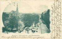 Ansichtskarte Stuttgart Johanneskirche und Feuerseeplatz 1900 (Nr.776)