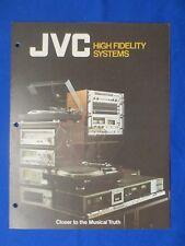 JVC P3030 M3030 SEA-7070 QL-10 KD-95 Combo Systems Brochure Catalog Original