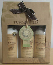 3 PC Tuscan Hills Body Care Collection Vanilla Almond Body Lotion Wash Bath Salt