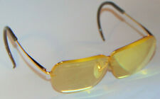DECOT SPORT GLASSES WITH GOLD FRAMES! PRESCRIPTION LENSES! 61mm, 6 1/2!  USA