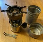 Vintage COLEMAN 530 A46 military backpacking CAMP STOVE  w funnel wrench case