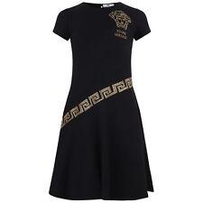 YOUNG VERSACE GIRLS BLACK MEDUSA RHINESTONE DRESS 10 YRS RRP £205