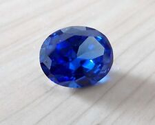 Unheated 7x9mm AAA Blue Sapphire 2.75ct Oval Faceted Cut VVS Loose Gemstone