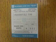 24/09/1991 Ticket: Sunderland v Huddersfield Town [Football League Cup]. Any fau
