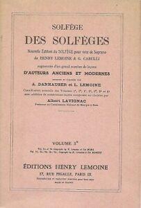 Solfège des Solfèges - A Lavignac - Pour voix soprano - Volume 3B