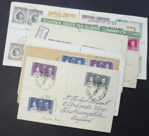 EDW1949SELL : WORLDWIDE Collection of 13 mostly Reg. 1937 Coronation covers.