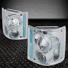 FOR 73-91 CHEVY GMC C/K PAIR PICKUP TRUCK CHROME HOUSING TAIL LIGHT BRAKE LAMPS