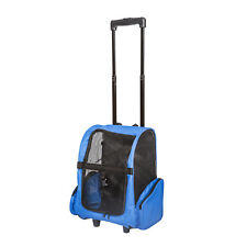 New listing Pet Carrier Dog Cat Rolling Back Pack Tool Travel Airline Crate Luggage Bag