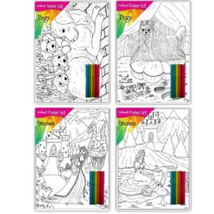 Velvet Colouring Card Art Poster Set Board Activity Set Picture Fuzzy Felt Pack