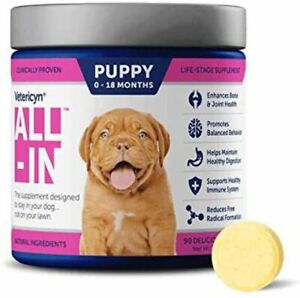 Vetericyn All-in Bone and Joint Dog Supplement for Puppy 90 Tablets 7.3 oz.