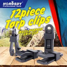 12pc Camping Awning Fly Tarp Tarpaulin Clip Clamp Tent Family Caravan Gear Tool