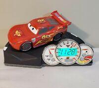 Disney Pixar Cars 2 Lightning McQueen Animated Talking Sound Effects Alarm Clock