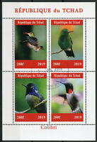 Chad 2019 CTO Hummingbirds Hummingbird 4v M/S Colibri Birds Stamps