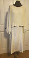 New w Tags Vintage PARUES FEINSTEIN Semi Formal Dress Sheath w Pleated Top Sz 16