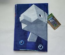 "Minecraft Beach Pool Towel - Shards and Turtles 28""x58""Blue 100% Cotton Nwt L3"