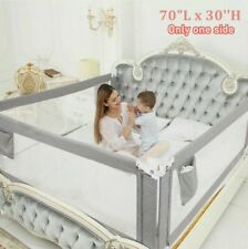 70x30in Toddlers Bed Rail Guard Baby Safety Bedrails Anti Falling NIB NEW GRAY
