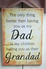 Handmade Rectangle Dad Decorative Plaques & Signs