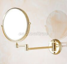 Gold Color Brass Beauty Makeup Cosmetic Double-Sided Magnifying Mirror eba629