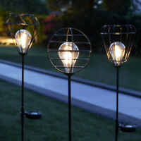 Solar Power Festoon LED Garden Path Stake Light | Cage Outdoor Decoration