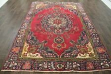 Persian Traditional Vintage Wool  6.1 X 9 Oriental Rug Handmade Carpet Rugs