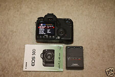 "CANON 50D Digital Camera SLR Body EOS 15.1 MP 3"" Screen Battery Charger Manual"