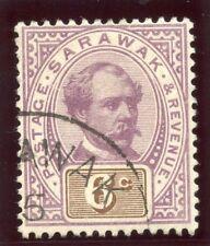 Sarawak 1888 QV 6c purple & brown very fine used. SG 13. Sc 13.