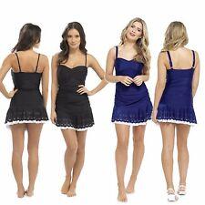 Ladies Tummy Control Swimsuit Floral Swim Dress, Designer Swimwear Size 10-22