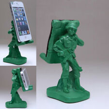 Cute Funny Soldier Style Cell Phone Stand Desktop for iPhone Holder Tablet Mount