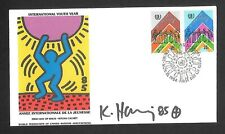 KEITH HARING SIGNED (WFUNA) FIRST DAY OF ISSUE... STAMPED AND CANCELED... MINT