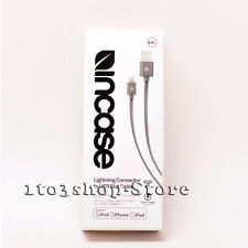 Incase Cable Lightning Flat Charger For iPhone iPad iPod 0.9m 3 feet  Charcoal