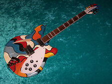 Wild Rickenbacker 360 hand painted electric guitar vintage