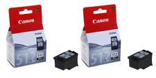 2x Original Genuine Canon PG512 Black Ink Cartridges For PIXMA MP260 Printer
