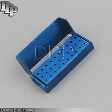 30 Holes Dental Aluminum Bur Burs Holder Box Autoclave Blue Color DN-2086