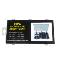 "80 pcs Vacuum Rubber Cap Assortment Carburetor Set 5/32"" t 3/8"" Auto Repair Kit"