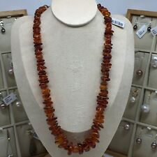 100% natural  amber irregular beads golden brown color necklace