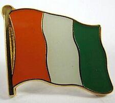 Ivory Coast Flags Pin, 1,5 cm, New Pressure Cap