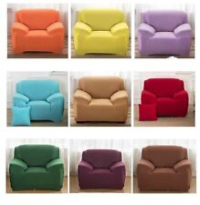 Armchair Slipcover 1 Seater Stretch Solid Couch Cover Cover Elastic Protector