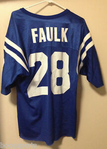Throwback Indianapolis Colts Marshall Faulk Champion Jersey Mens 1990s