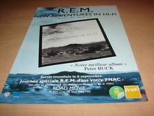 R. E.M - NEW ADVENTURES IN HI-FI!!!!!PUBLICITE / ADVERT